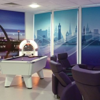 Wall Mural of Glasgow Skyline in a recreation area